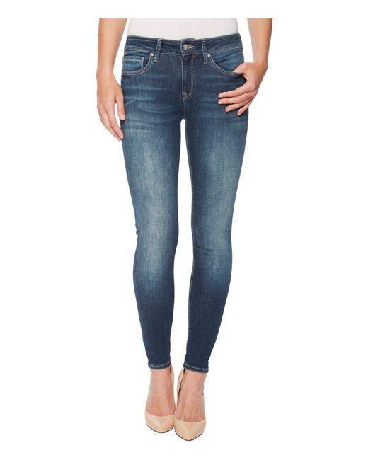 Mavi Jeans - Blue Adriana Midrise Super Skinny In Shaded Tribeca - Lyst