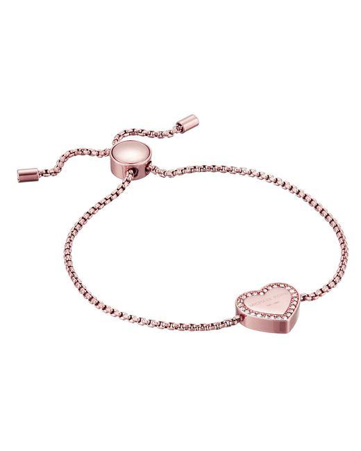 Michael Kors - Metallic Heritage Heart Adjustable Bracelet - Lyst