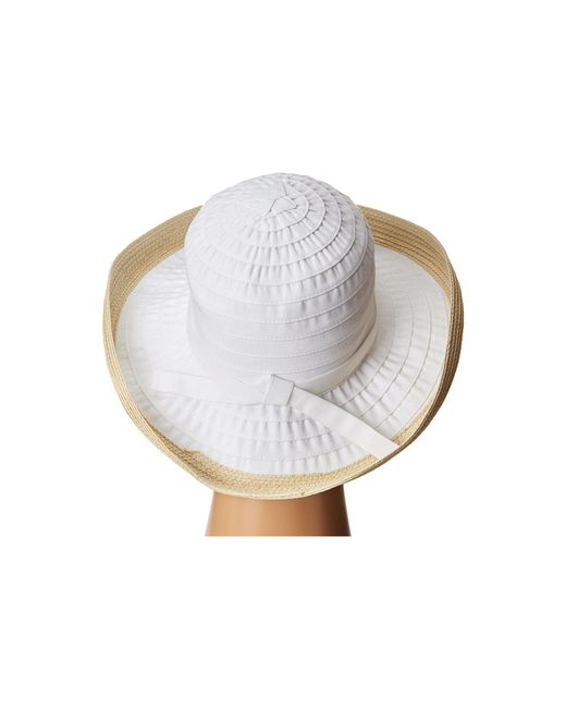 e458885b1d7 ... San Diego Hat Company - Rbm5554 Ribbon Kettle Brim (white) Caps - Lyst  ...