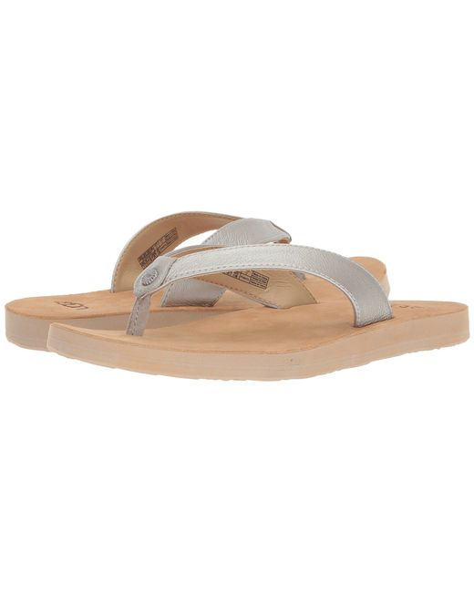 Ugg - Tawney Metallic (silver) Women's Sandals - Lyst