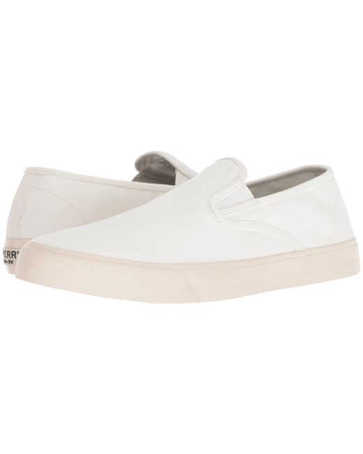 Sperry Top-Sider - White Captain's Slip-on (black) Men's Slip On Shoes for Men - Lyst