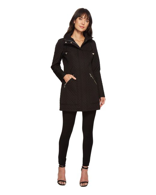 Ivanka Trump - Black Oversized Pocket Hooded Quilted Coat - Lyst