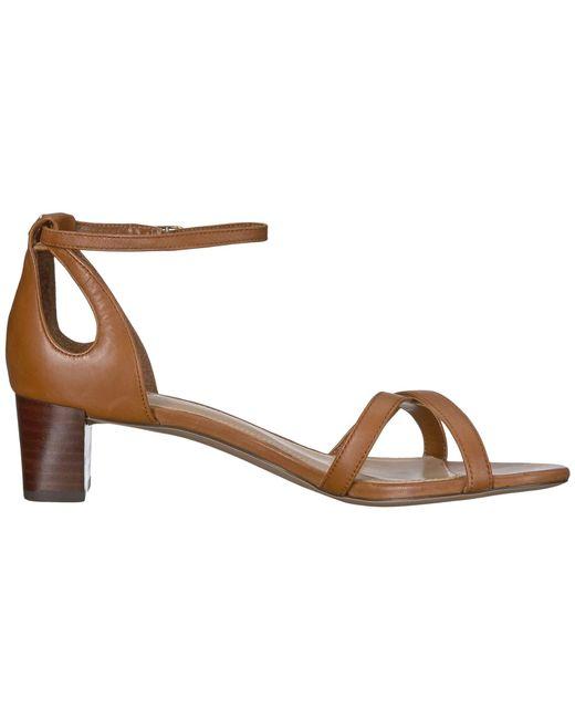 bedc2ecb7b2 ... Lauren by Ralph Lauren - Brown Folly Tan Leather Block Heel Sandals -  Lyst ...