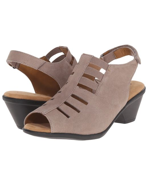 Comfortiva - Gray Faye (anthracite Distressed Foil Suede) Women's 1-2 Inch Heel Shoes - Lyst