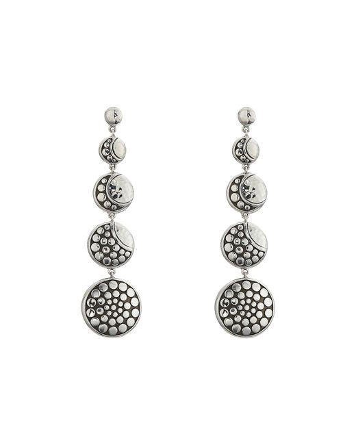 John Hardy - Metallic Dot Moon Phase Hammered Drop Earrings (hammered Silver) Earring - Lyst