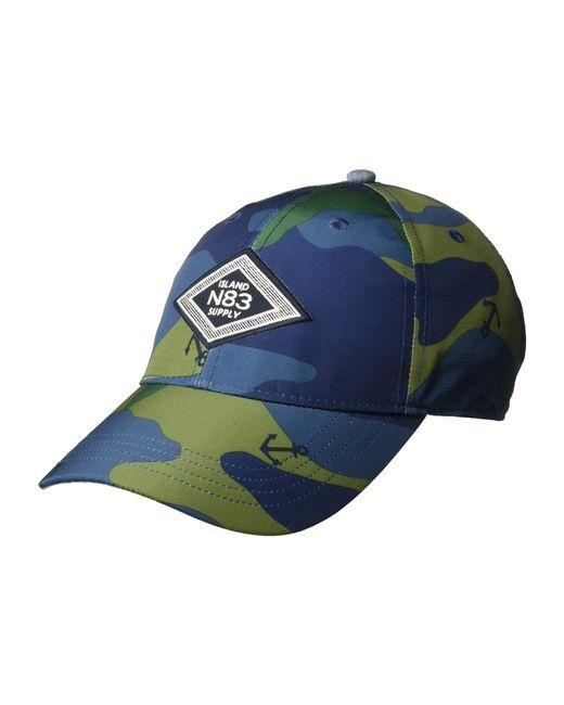 e34860039a7a9c Nautica Camo Anchor Printed Cap in Blue for Men - Save 15% - Lyst