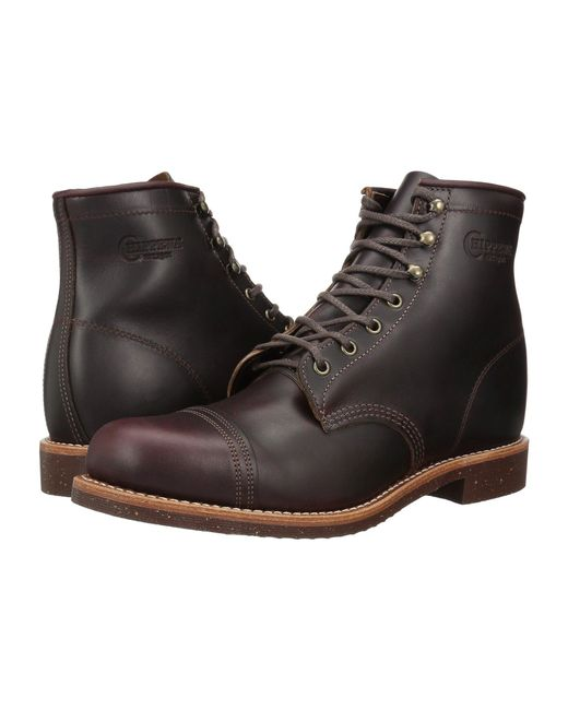 Chippewa - Black 6 Homestead Pebbled Boot (cordovan Full Grain Leather) Men's Work Boots for Men - Lyst