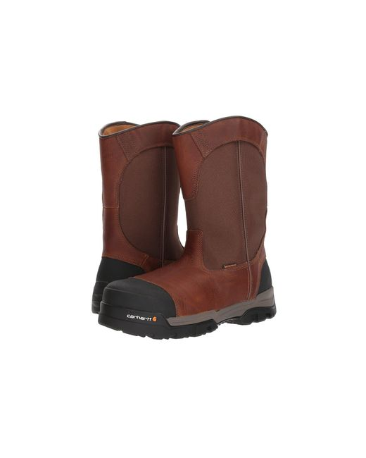 Carhartt - Ground Force 10 Comp Toe Pull-on Work Boot (brown Leather) Men's Work Boots for Men - Lyst