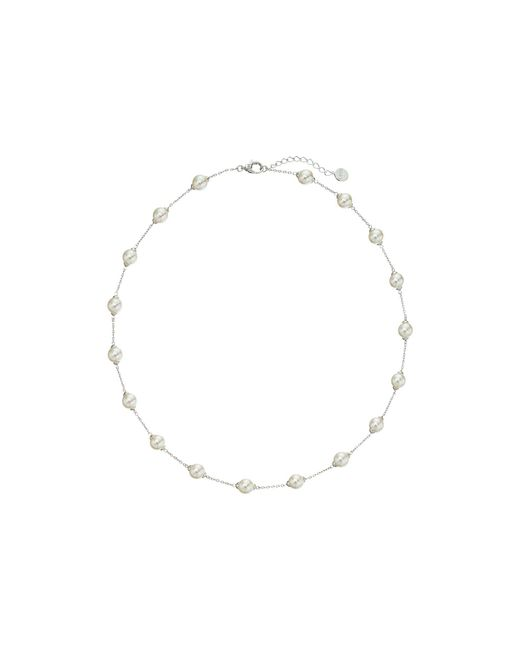 Majorica - Metallic 18/8mm Illusion Necklace (silver/white) Necklace - Lyst