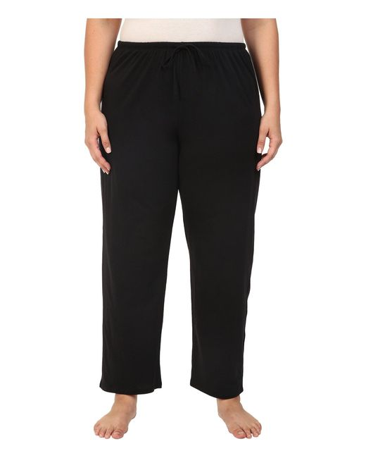 Jockey - Black Cotton Essentials Plus Size Long Pajama Pant (truffle) Women's Pajama - Lyst