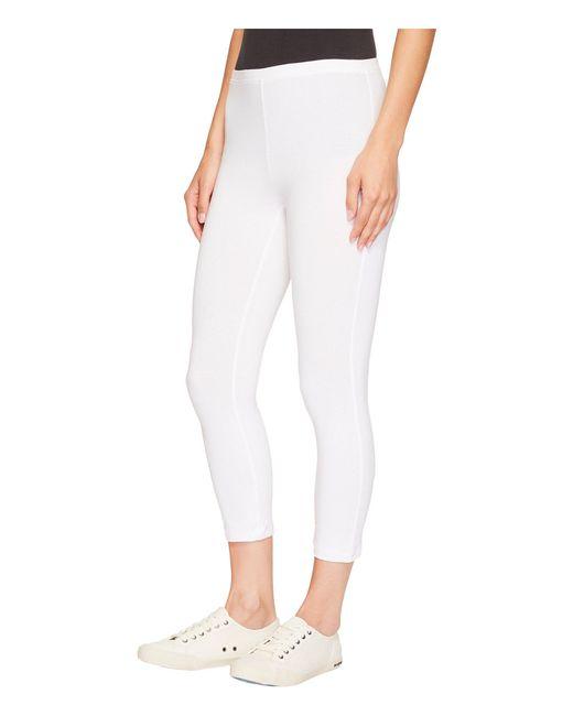 4dfe965abaa5 ... Hue - White Cotton Capri Legging (graphite Heather) Women s Capri ...