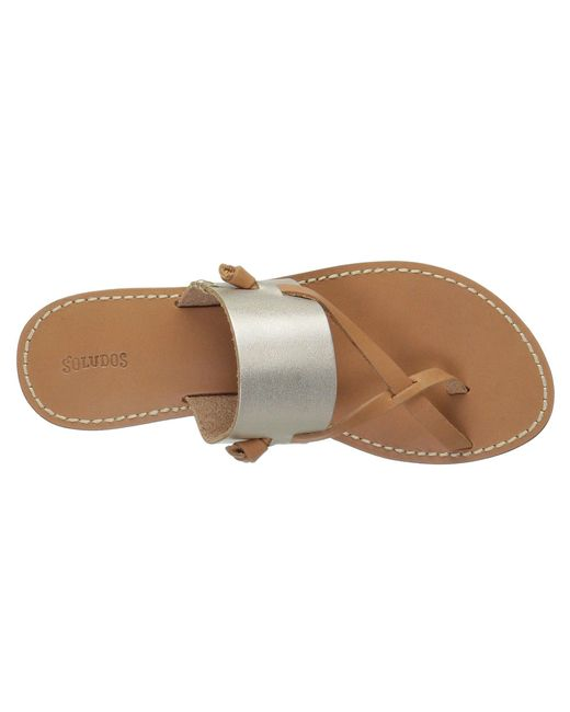 780bfbbd63b ... Soludos - Brown Slotted Thong Sandal (metallic Platinum) Women s Sandals  ...