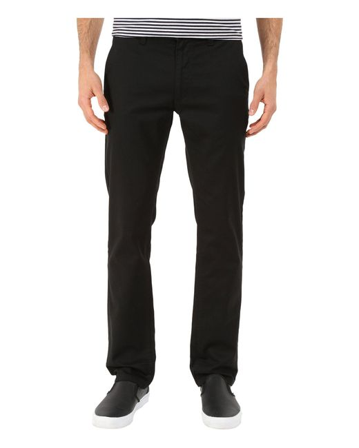 Brixton - Black Reserved Standard Fit Chino Pants (dark Burgundy) Men's Casual Pants for Men - Lyst