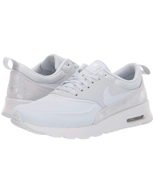 Womens Nike Air Max Thea Premium Stealth Grey Platinum White SZ 5 (616723 009)