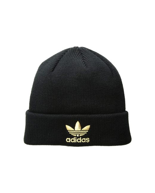 Adidas Originals - Originals Trefoil Beanie (black gold) Beanies for Men -  Lyst 6df8b7cdfcd
