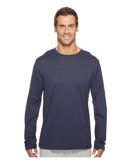 Hanro - Blue Night And Day Long Sleeve Shirt (mineral) Men's T Shirt for Men - Lyst
