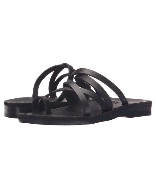 Jerusalem Sandals - Black Ariel - Womens (brown) Women's Shoes - Lyst