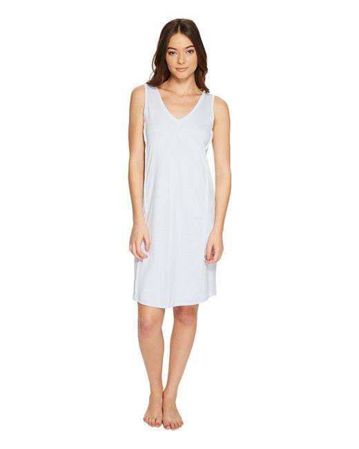 b597e63e69 Hanro - Blue Pure Essence Tank Gown (off-white) Women s Pajama - Lyst ...