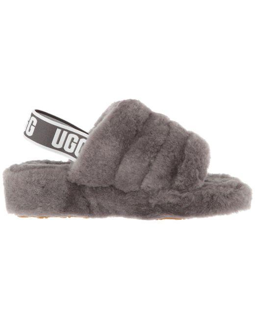 e5dad5748b7d ... Lyst Ugg - Gray Fluff Yeah Slide (pink Dawn) Women s Slippers ...
