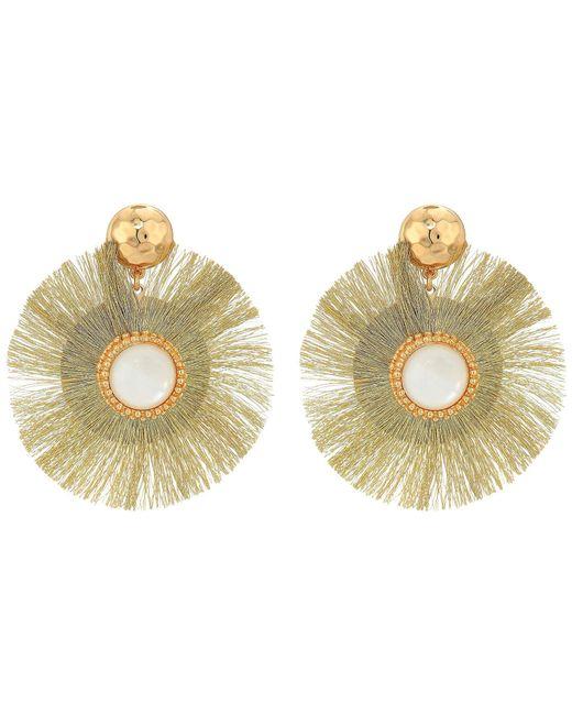 Lilly Pulitzer - Metallic Fan-tastic Earrings (watermelon) Earring - Lyst