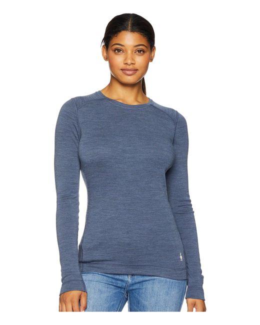 Smartwool - Blue Nts Mid 250 Crew Top (moonbeam Heather) Women's Long Sleeve Pullover - Lyst