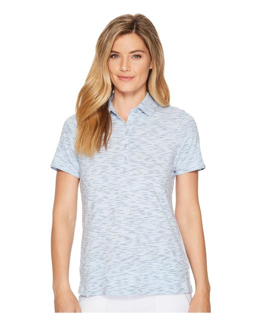 973de6dfceb1 Lyst - Skechers Go Golf Space Dye Polo (light Blue) Women s Clothing ...