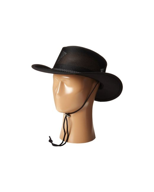 Stetson - Black Mesh Covered Safari With Chin Cord (clay) Safari Hats for Men - Lyst