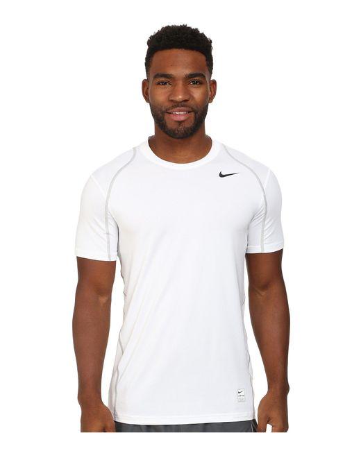 Nike | White Pro Short Sleeve Training Top for Men | Lyst