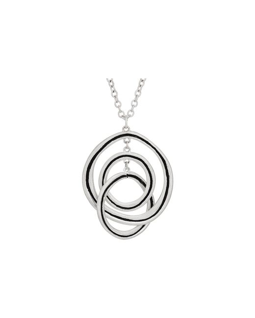"The Sak - Metallic Ribbed Orbit Pendant Necklace 28"" - Lyst"