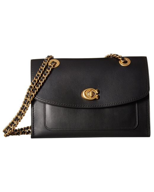 COACH - Parker (b4/black) Shoulder Handbags - Lyst