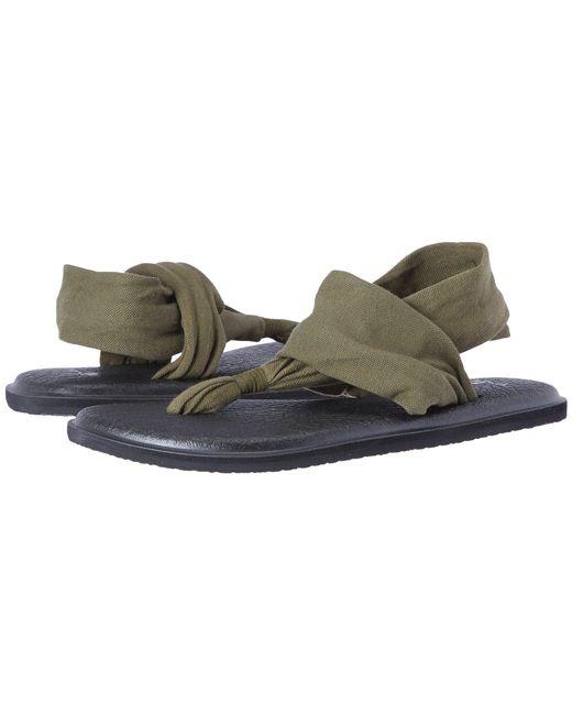 Sanuk - Green Yoga Sling 2 (black/white) Women's Sandals - Lyst