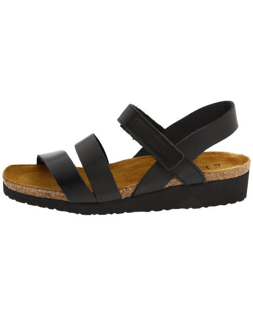 e59ee293430d Lyst - Naot Kayla (black Luster Leather) Women s Sandals in Black