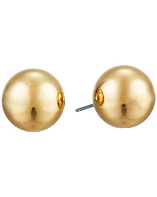 Lauren by Ralph Lauren - Metallic 12mm Stud Earrings (gold) Earring - Lyst
