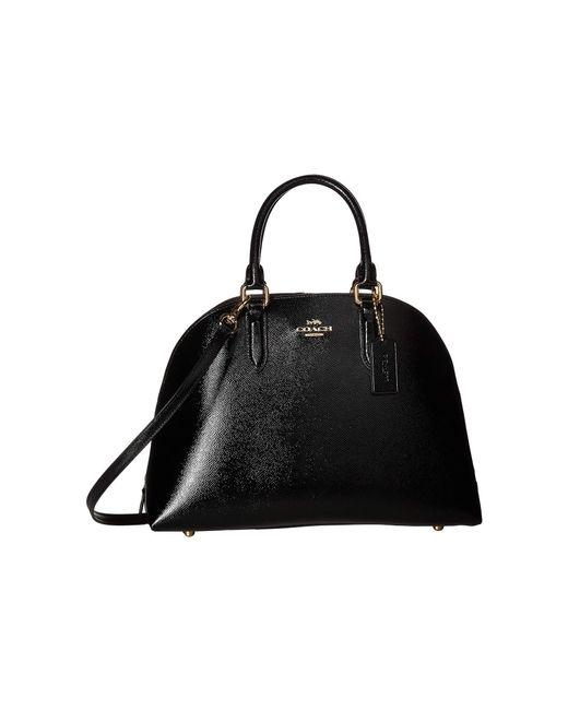 COACH - Black Quinn Satchel In Crossgrain Patent Leather (li/oxblood) Satchel Handbags - Lyst