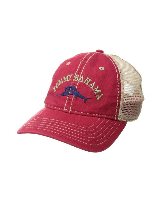 0ae3c87c163d5 Lyst - Tommy Bahama Mesh Cap (red) Caps in Red for Men