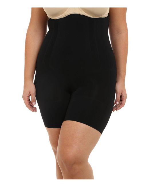 Spanx | Black Plus Size Oncore High-waist Mid-thigh | Lyst
