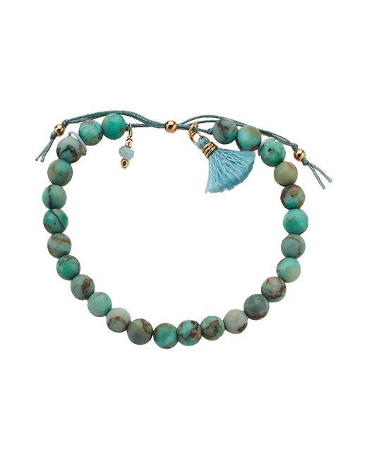 Dogeared - Multicolor No Worries Bracelet, Matte Denim Lapis Bead Stone Bracelet With Nylon Pull Cord (gold Dipped) Bracelet - Lyst