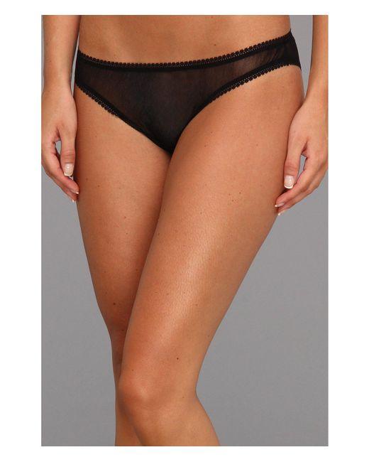 On Gossamer - Black Solid Gossamer Mesh Hip Bikini 3202 (blush) Women's Underwear - Lyst