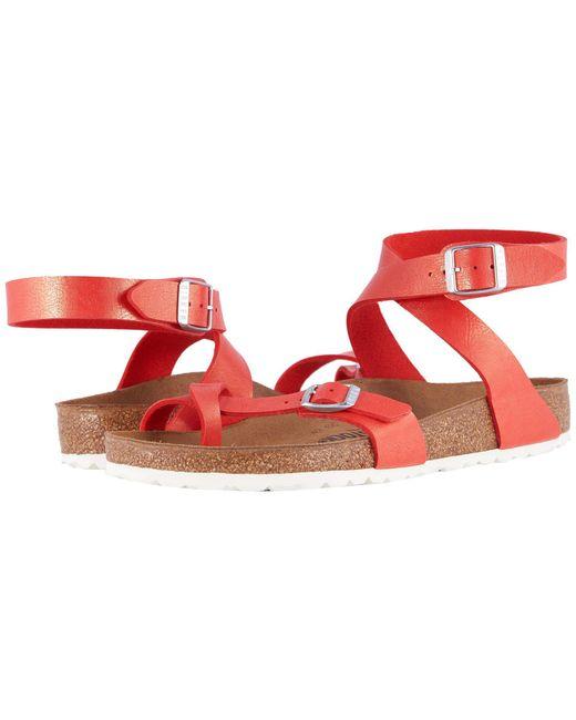 Birkenstock - Red Yara (graceful Hibiscus) Women's Sandals - Lyst