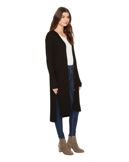 e521ab64163a9d ... Michael Stars - Jasper Poor Boy Rib Cardigan (black) Women s Sweater ...