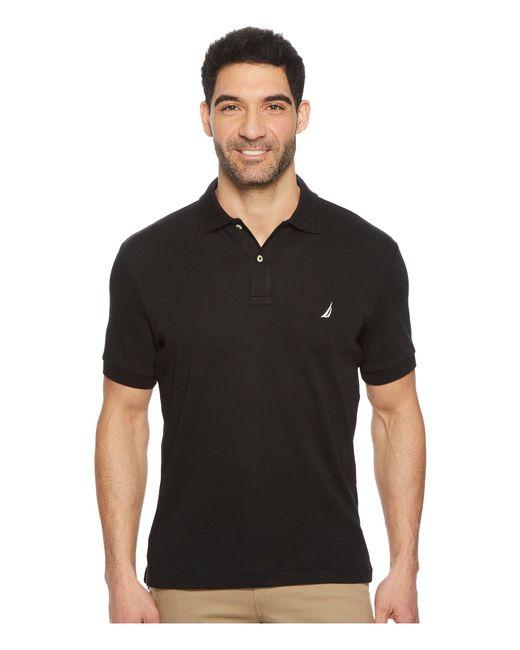 Nautica - Short Sleeve Solid Interlock Polo (true Black) Men's Short Sleeve Pullover for Men - Lyst