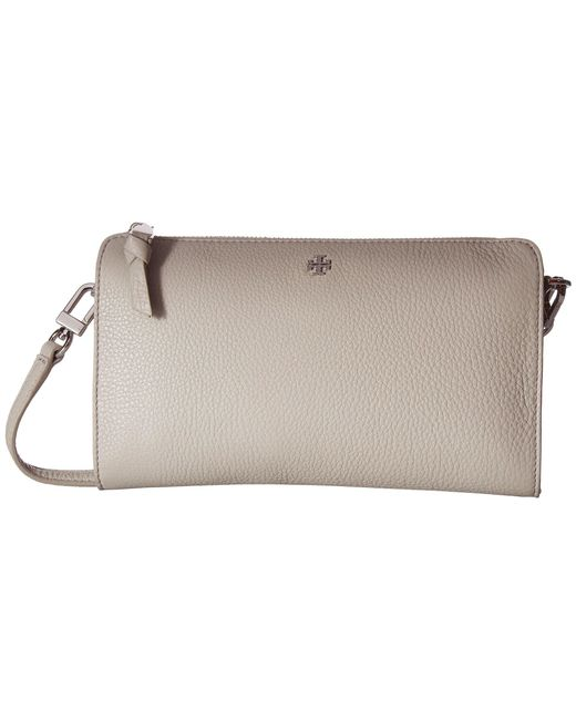 Tory Burch - Multicolor Robinson Pebbled Wallet Crossbody (concrete) Wallet Handbags - Lyst
