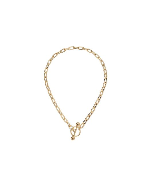 Steve Madden - Metallic Rolo Ring Chain Bar Necklace (gold) Necklace - Lyst