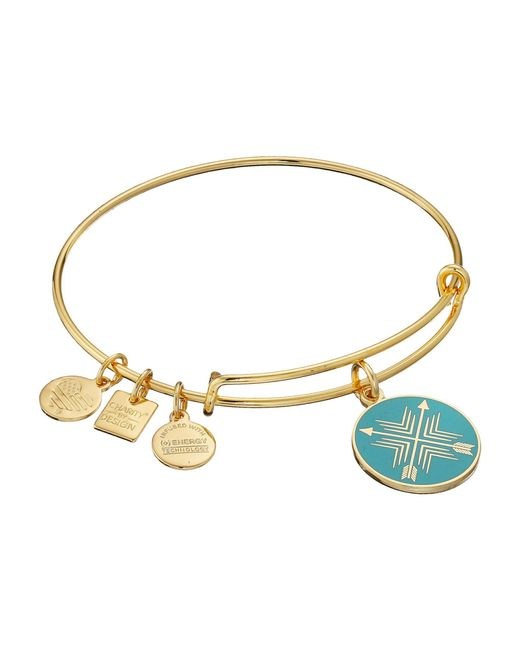 ALEX AND ANI - Metallic Charity By Design Arrows Of Friendship Charm Bangle - Lyst