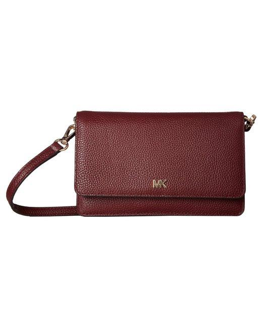 327f7a43622e MICHAEL Michael Kors - Red Phone Crossbody (dark Chambray) Cross Body  Handbags - Lyst ...
