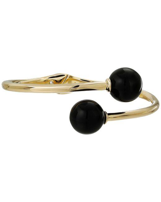 Kate Spade | Black Golden Girl Bauble Open Hinged Cuff Bracelet | Lyst