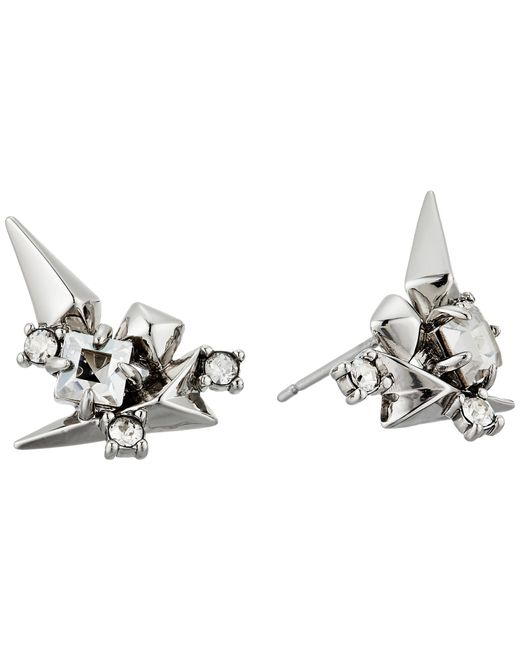 Alexis Bittar | Metallic Golden Studded Post Earrings | Lyst