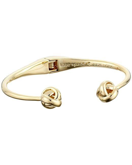 kate spade new york | Metallic Dainty Sparklers Knot Cuff Bracelet | Lyst