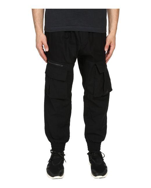 Y-3 | Black Long John Lounge Pants for Men | Lyst