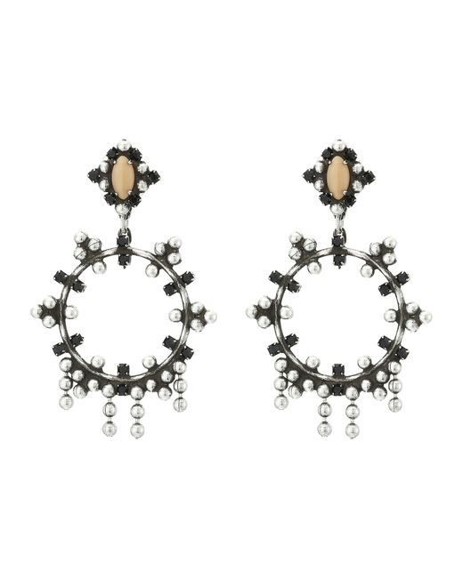 DANNIJO | Black Aix Earrings | Lyst